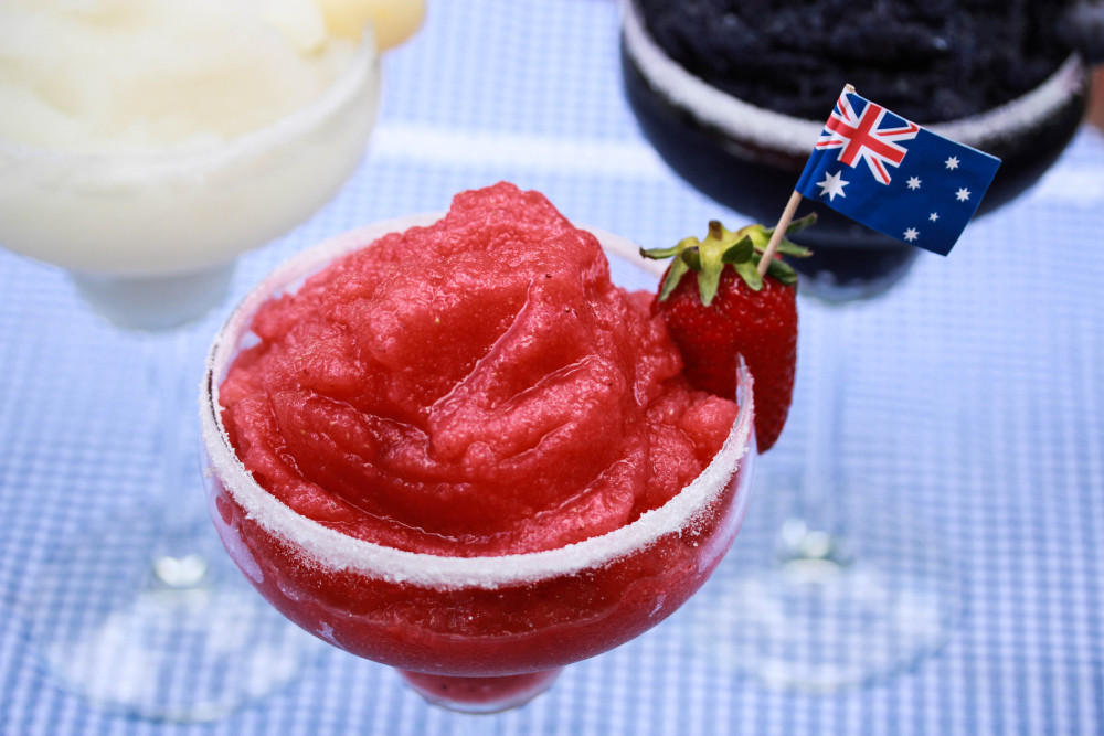 Australia Day frozen daiquiri - cocktail