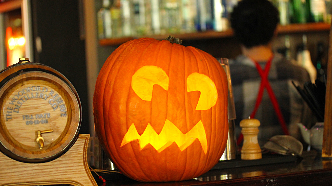 Halloween Pumpkin Head | World Bar Southbank | Melbourne Cocktails