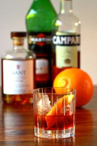 boulevardier + ingredients